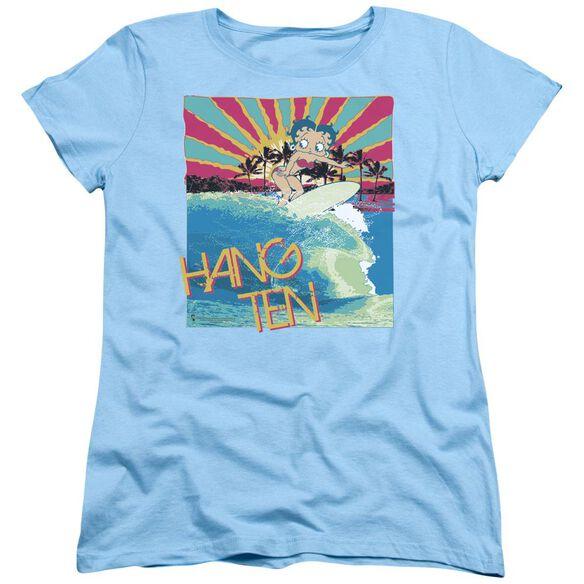 Betty Boop Hang Ten Short Sleeve Womens Tee Light T-Shirt