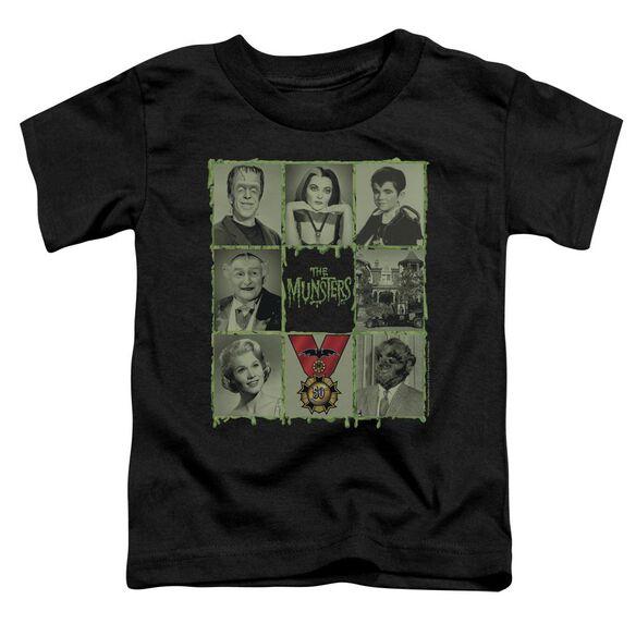 The Munsters Blocks Short Sleeve Toddler Tee Black T-Shirt