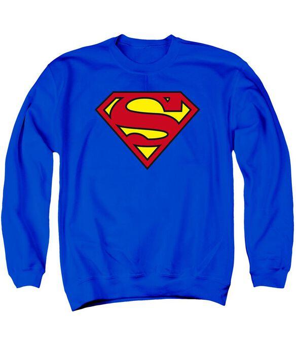 Superman Classic Logo Adult Crewneck Sweatshirt Royal