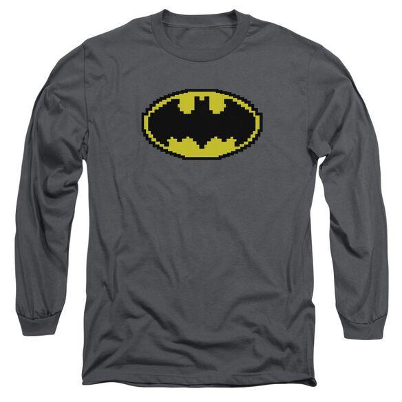 Batman Pixel Symbol Long Sleeve Adult T-Shirt