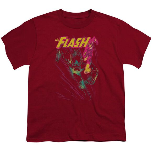 Jla Flash Spray Short Sleeve Youth T-Shirt