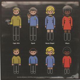 Star Trek Family Car Decal Set