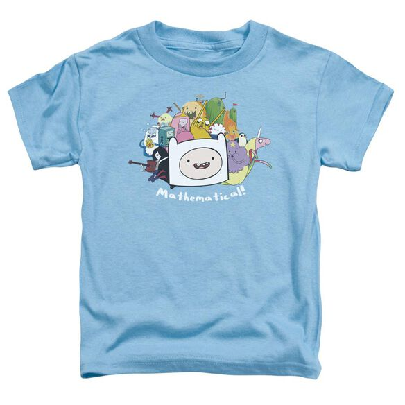 Adventure Time Mathematical Short Sleeve Toddler Tee Carolina Blue T-Shirt