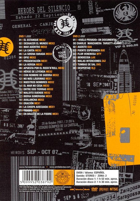 Heroes del Silencio: Tour 2007 [2 Discs]