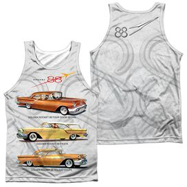 Oldsmobile Rocket Line (Front Back Print) Adult Poly Tank Top