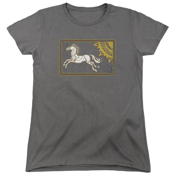 Lor Rohan Banner Short Sleeve Womens Tee T-Shirt