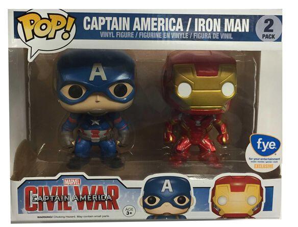 Pop Exclusive Captain America/Iron Man Civil War [2 Pack]
