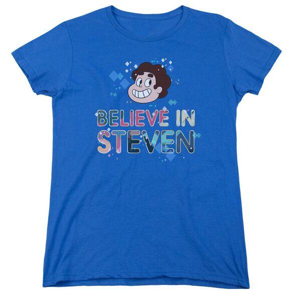 Steven Universe Believe Short Sleeve Womens Tee Royal T-Shirt