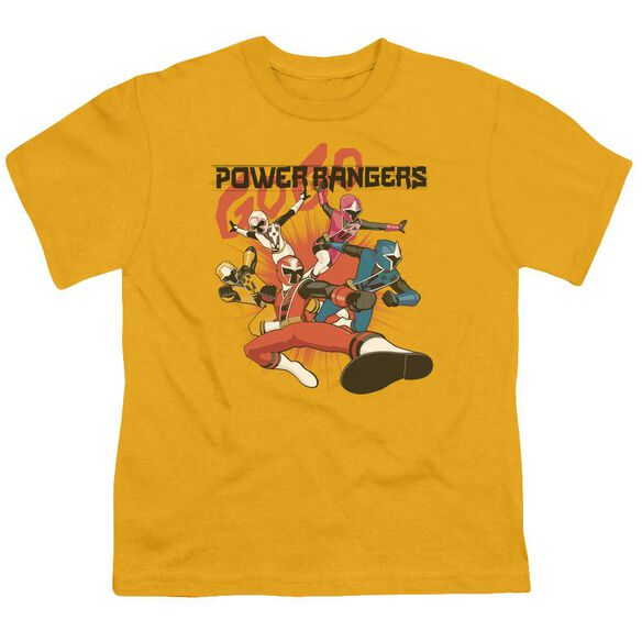 Power Rangers Attack Short Sleeve Youth T-Shirt