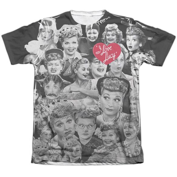 I Love Lucy Faces Adult Poly Cotton Short Sleeve Tee T-Shirt