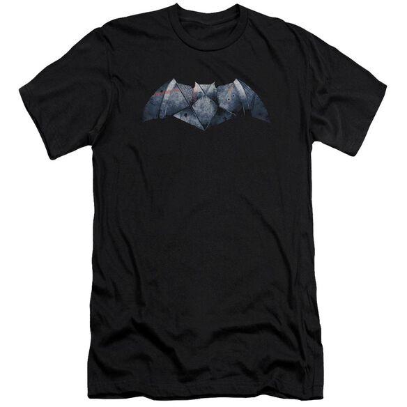 Batman V Superman Plated Bat Logo Short Sleeve Adult T-Shirt
