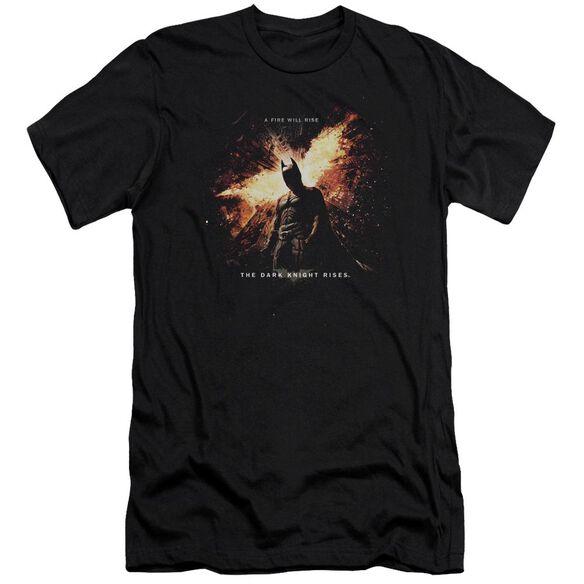 Dark Knight Rises Fire Will Rise Short Sleeve Adult T-Shirt
