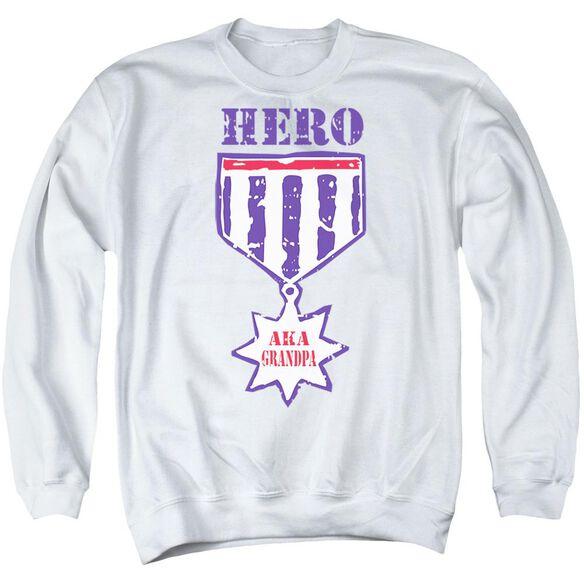 Hero Aka Grandpa Adult Crewneck Sweatshirt
