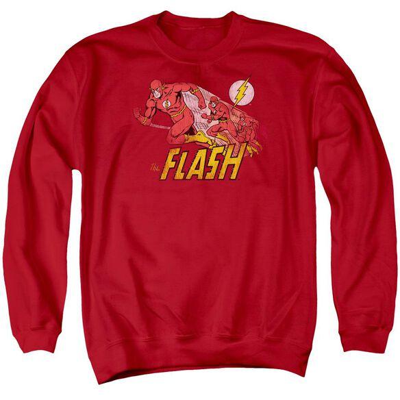 Dc Crimson Comet Adult Crewneck Sweatshirt
