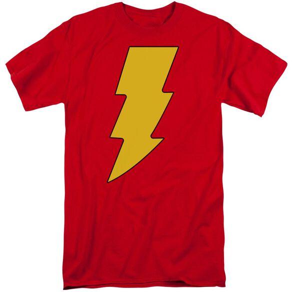 Dc Shazam Logo Short Sleeve Adult Tall T-Shirt