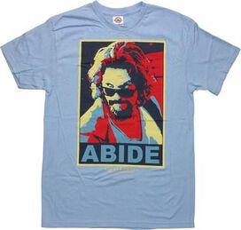 Big Lebowski Abide Colorful T-Shirt