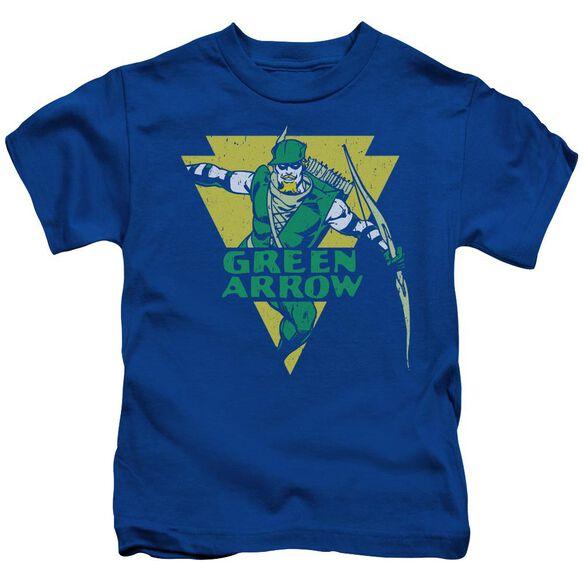 Dc Distressed Arrow Short Sleeve Juvenile Royal T-Shirt