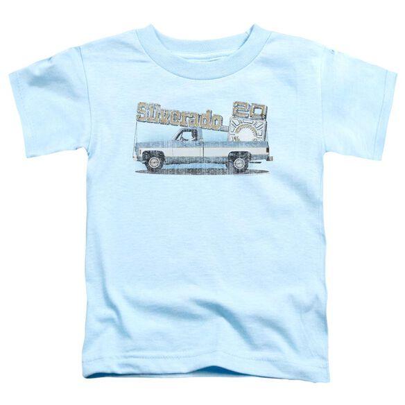Chevrolet Old Silverado Sketch Short Sleeve Toddler Tee Light Blue T-Shirt