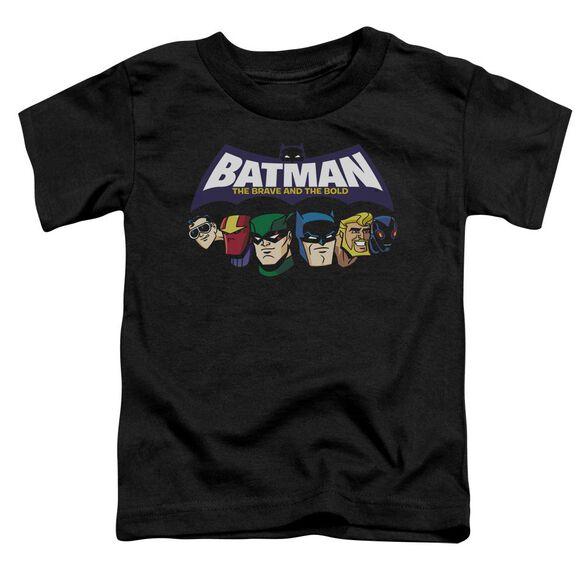 Batman Bb Head Lineup Short Sleeve Toddler Tee Black Lg T-Shirt