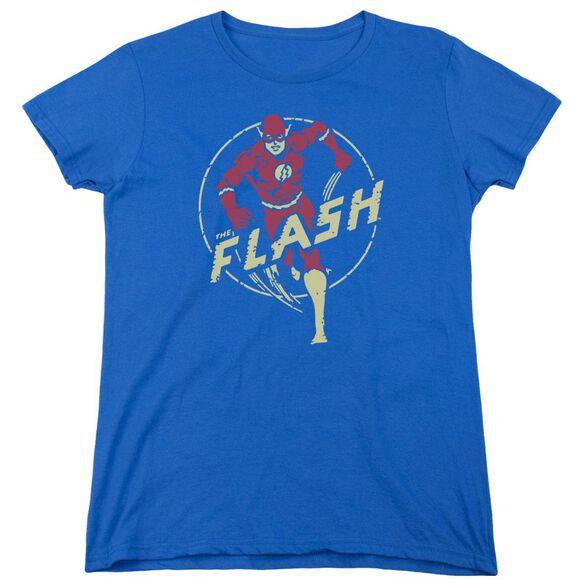 Dc Flash Flash Comics Short Sleeve Womens Tee Royal T-Shirt