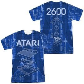 Atari Inside Out (Front Back Print) Short Sleeve Adult Poly Crew T-Shirt