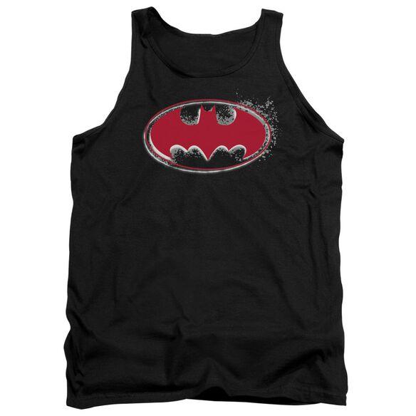 Batman Hardcore Noir Bat Logo Adult Tank