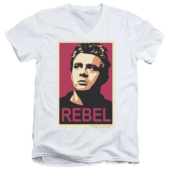Dean Rebel Campaign Short Sleeve Adult V Neck T-Shirt