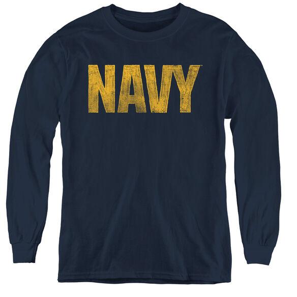 Navy Logo-youth Long