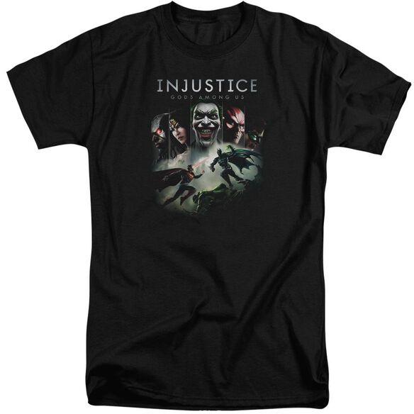 Injustice Gods Among Us Key Art Short Sleeve Adult Tall T-Shirt