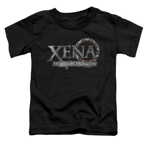 Xena Battered Logo Short Sleeve Toddler Tee Black T-Shirt