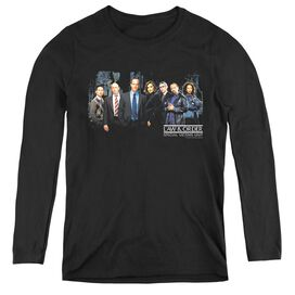 LAW AND ORDER SVU CAST - WOMENS LONG SLEEVE TEE - BLACK