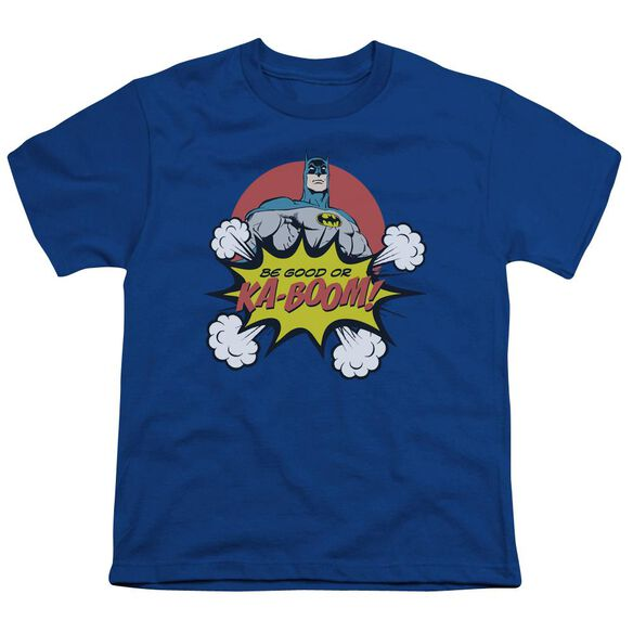 Dc Kaboom Short Sleeve Youth Royal T-Shirt