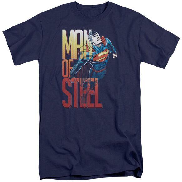 Superman Steel Flight Short Sleeve Adult Tall T-Shirt
