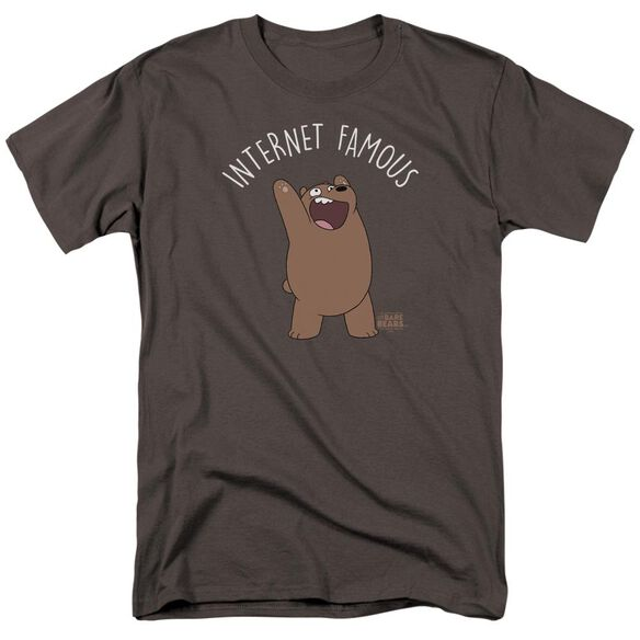 We Bare Bears Internet Famous Short Sleeve Adult Charcoal T-Shirt