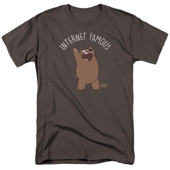 We Bare Bears Internet Famous Short Sleeve Adult Charcoal T-Shirt