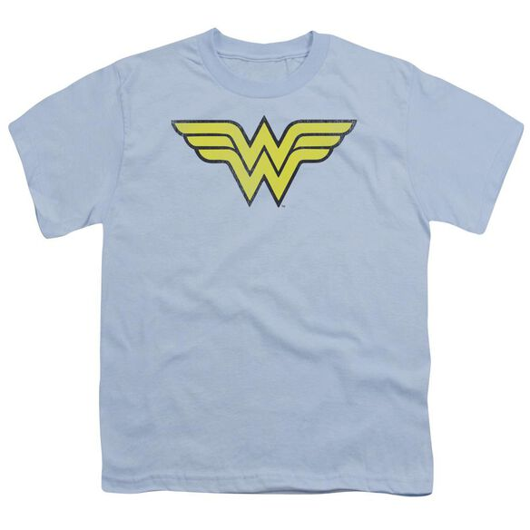 Dc Ww Logo Distressed Short Sleeve Youth Light T-Shirt