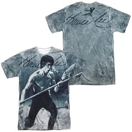 Bruce Lee Whoooaa (Front Back Print) Short Sleeve Adult 100% Poly Crew T-Shirt