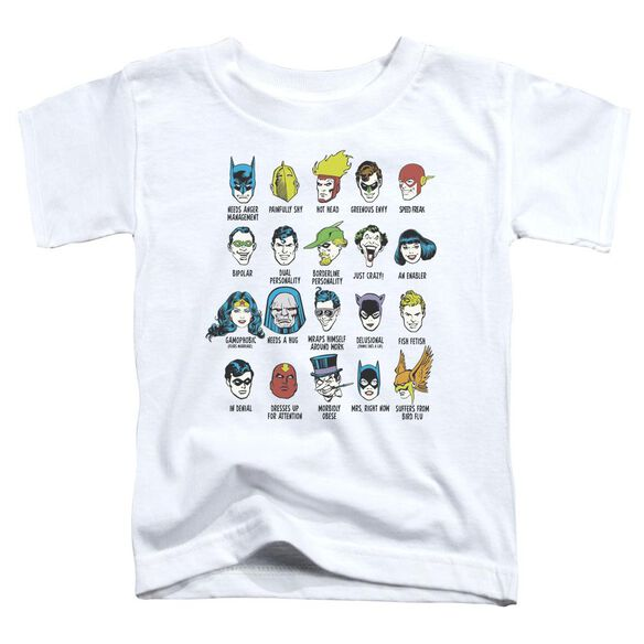 Dc Superhero Issues Short Sleeve Toddler Tee White Md T-Shirt