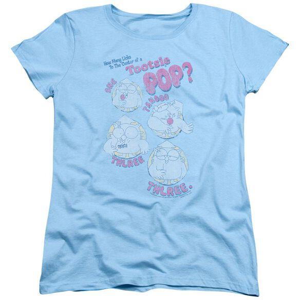 Tootsie Roll Three Short Sleeve Womens Tee Light T-Shirt