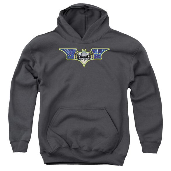 Dark Knight Hes Watching You Youth Pull Over Hoodie