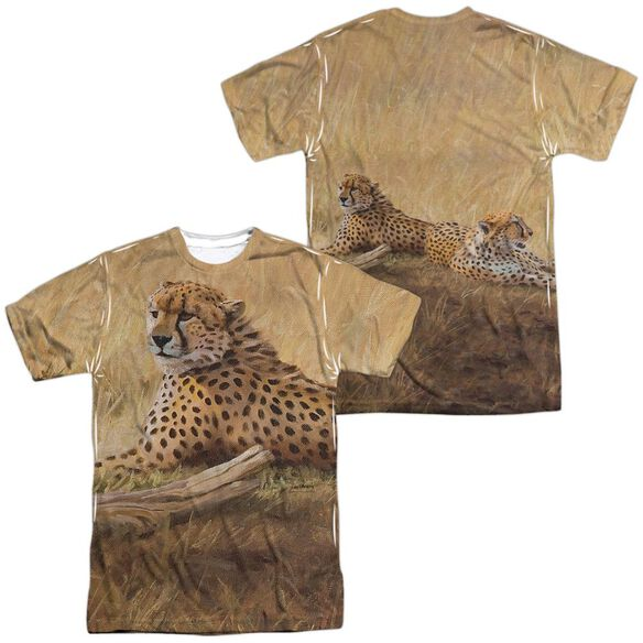 Wild Wings African Cats (Front Back Print) Short Sleeve Adult Poly Crew T-Shirt