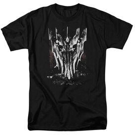 Lor Big Sauron Head Short Sleeve Adult Black T-Shirt