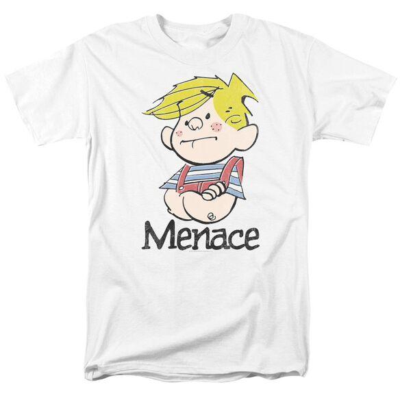 Dennis The Menace Menace Short Sleeve Adult White T-Shirt