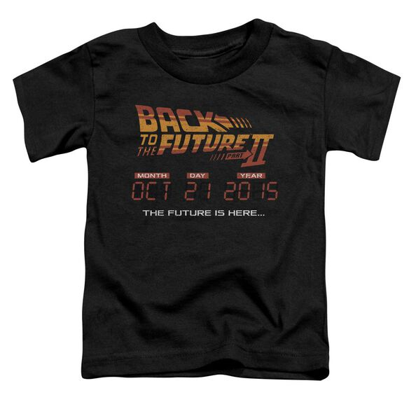 Back To The Future Ii Future Is Here Short Sleeve Toddler Tee Black Sm Black Sm T-Shirt