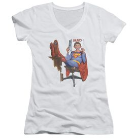 Mad Super Read Junior V Neck T-Shirt