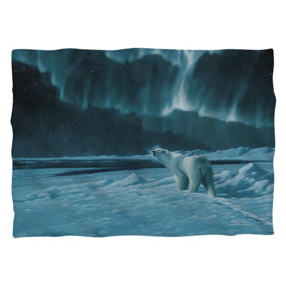 Wild Wings Polar Night Light 2 (Front Back Print) Pillow Case White