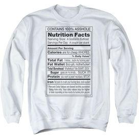100% Asshole - Adult Crewneck Sweatshirt - White