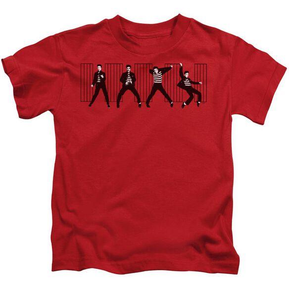 Elvis Jailhouse Rock Short Sleeve Juvenile Red T-Shirt