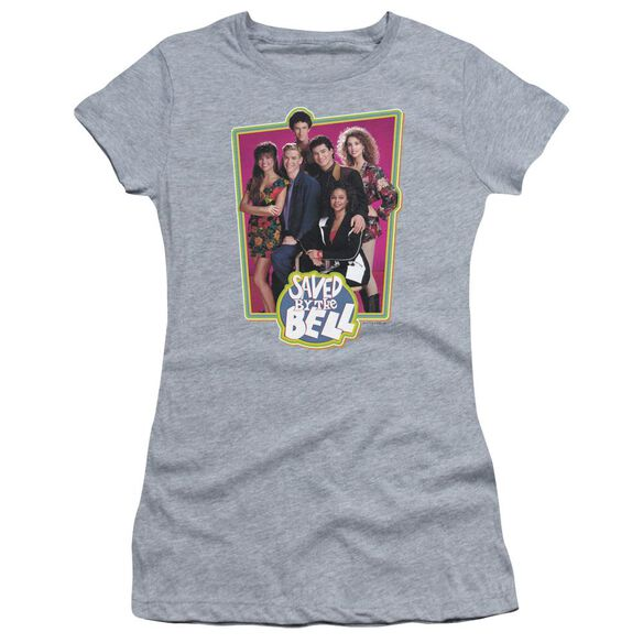 Saved By The Bell Saved Cast Short Sleeve Junior Sheer Athletic T-Shirt