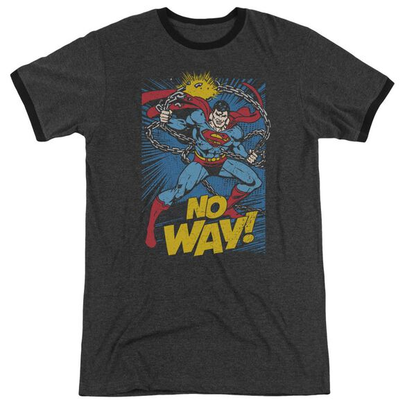 Dc No Way Adult Heather Ringer Charcoal